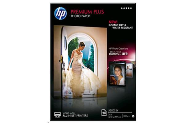 HP Premium Plus Glossy Photo Paper A4 - 20 Sheet