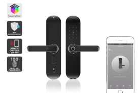 Kogan SmarterHome™ IP54 Battery Powered Fingerprint Smart Wi-Fi Door Lock