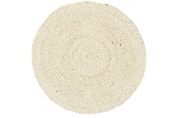 Round Jute Natural Rug Bleached 200x200cm