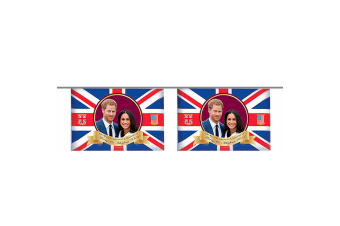 Royal Wedding 2018 Prince Harry And Meghan Bunting (10 Flags) (Red/White/Blue) (One Size)