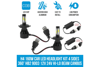 Cosmoblaze H4 160W Car LED Headlight Kit WITH CANBUS