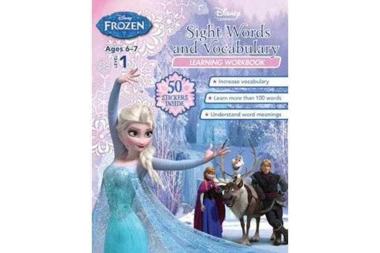 Frozen - Sight Words and Vocabulary (Disney: Learning Workbook, Level 1)