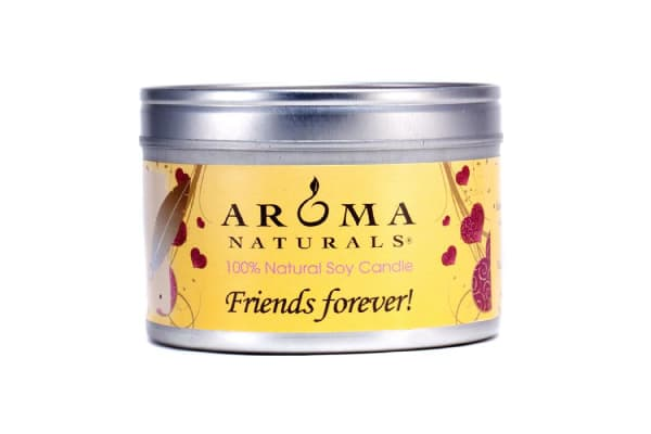 Aroma Naturals 100% Natural Soy Candle - Friends Forever (6.5oz)