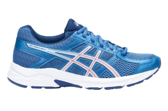ASICS Women's Gel-Contend 4 Running Shoe (Azure/Frosted Rose, Size 5)