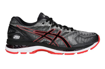 ASICS Men's Gel-Nimbus 20 Running Shoe (Black/Red Alert, Size 10.5)