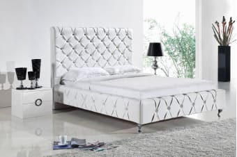 Serena Bed Frame (Queen/White)