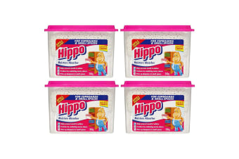 4x Hippo Moisture Absorber/Remove Odours Home/Office Cupboards/Wardrobes/Drawers