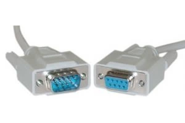 Cabac 2m 9 pin Male to Female Serial Extension Cable