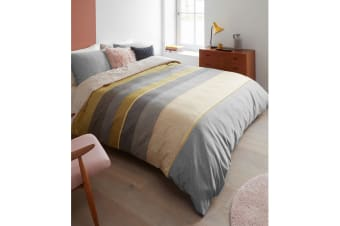 Bodhi Yellow Cotton Sateen Quilt Cover Set by Bedding House