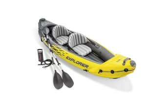 Intex 312cm Sports Explorer K2 Inflatable/Floating Kayak/Boat Oars River/Lake