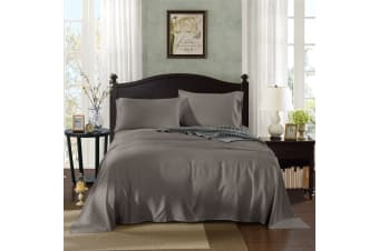 Royal Comfort 1000TC Rich Breathable Natural Bamboo Collection Sheets Set - Single - Charcoal