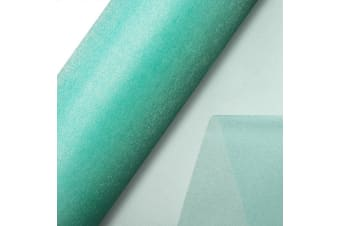 Club Green Organza 10 Metre Snow Sheer Roll (Aqua)