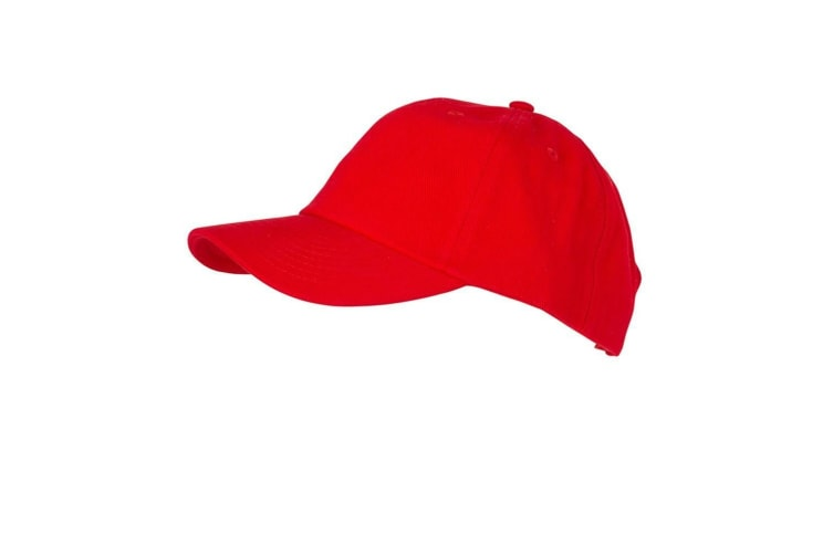 Myrtle Beach Adults Unisex 6 Panel Heavy Brushed Cap (Signal Red) (One Size)