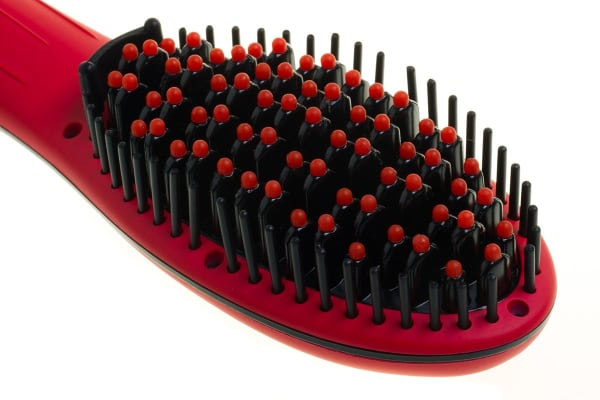 Cabello Hair Straightening Brush & Pro Hair Dryer Bundle (Candy Red)