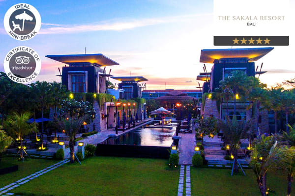 BALI: 5 Nights at The Sakala Resort, Nusa Dua (Two Bedroom Suite) for Four
