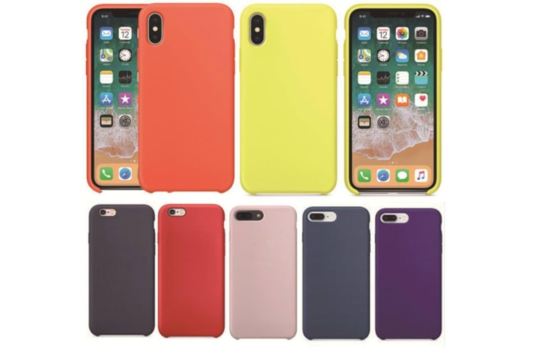 Silicone Gel Rubber Shockproof Protective Case Cover For Iphone Hot Pink I7/I8