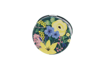 Painted & Pressed Compact Mirror (Green)