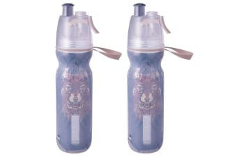2PK Avanti BR BPA Free 550ml Cold Drink Water Bottle Mist Spray Insulated Sport