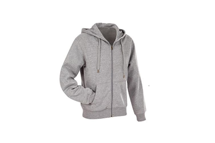 Stedman Mens Active Zip Hood (Heather Grey) (S)