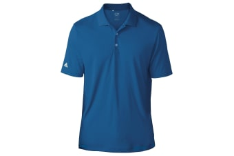 Adidas Teamwear Mens Lightweight Short Sleeve Polo Shirt (EQT Blue)
