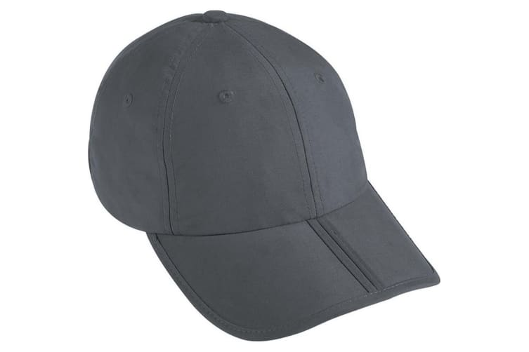 Myrtle Beach Adults Unisex 6 Panel Pack-a-Cap (Dark Grey) (One Size)