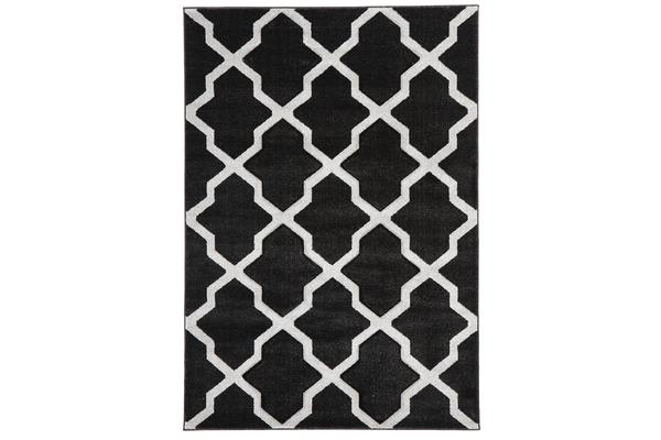 Cross Hatch Modern Rug Charcoal 170x120cm