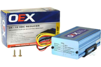 24 VOLT TO 12 VOLT VOLTAGE REDUCER 10 AMP OUTPUT WITH RADIO MEMORY