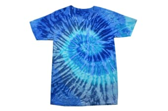 Colortone Womens/Ladies Rainbow Tie-Dye Short Sleeve Heavyweight T-Shirt (Blue Jerry) (XL)