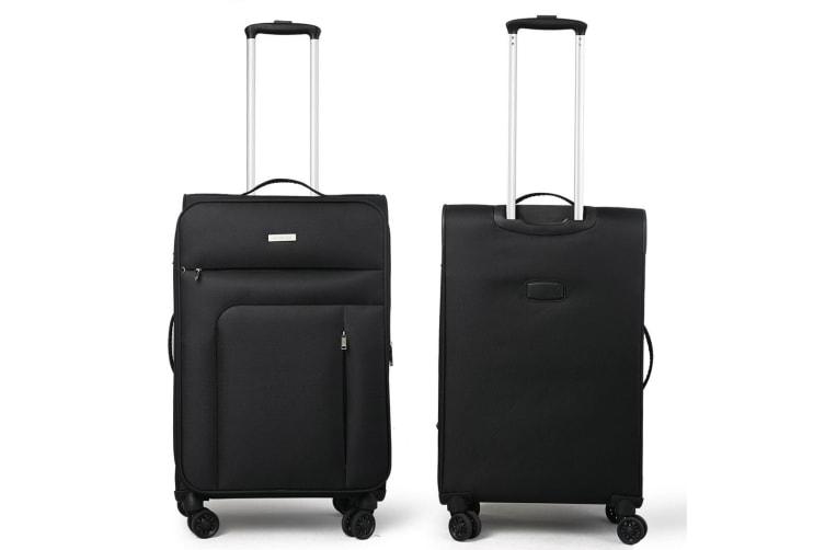 Conwood SureLite 3pc Suitcase Luggage Set Black Soft Trolley Bag Lightweight