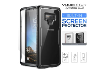 YOUMAKER Samsung Galaxy Note 9 Crystal Clear Shockproof Full-body Case Cover