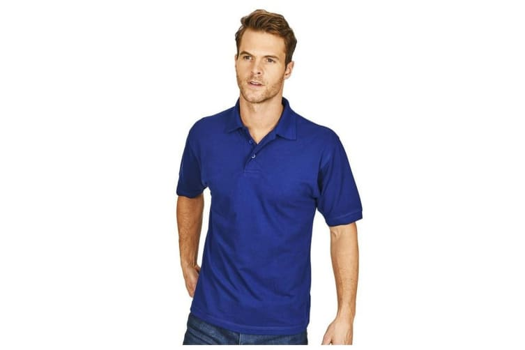 Casual Classic Mens Premium Triple Stitch Polo (Royal) (S)