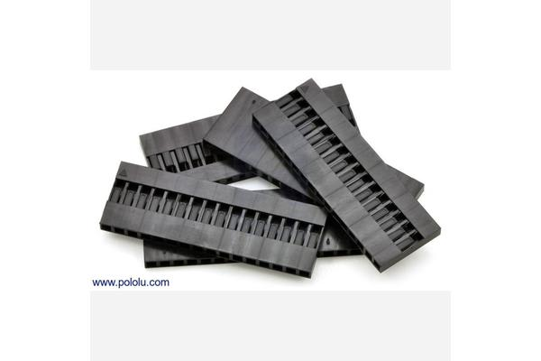 """0.1"""" (2.54mm) Crimp Connector Housing: 1x16-Pin 5-Pack"""