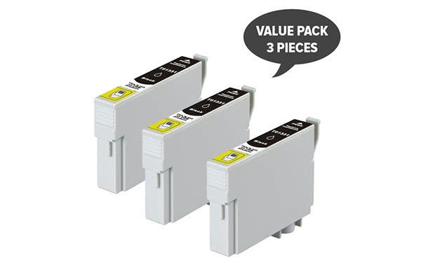 T1331 (133) Pigment Black Compatible Inkjet Cartridge (Three Pack)