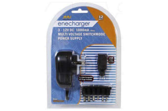Enecharger 12W Power Supply 100-240VAC Input to Output DC at 1 Amp