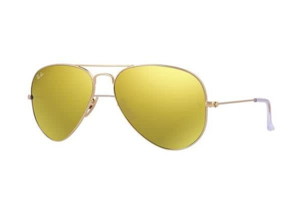 Ray Ban RB3025 AVIATOR - Gold (Mirror Gold lens) / 58--14--135 Unisex Sunglasses