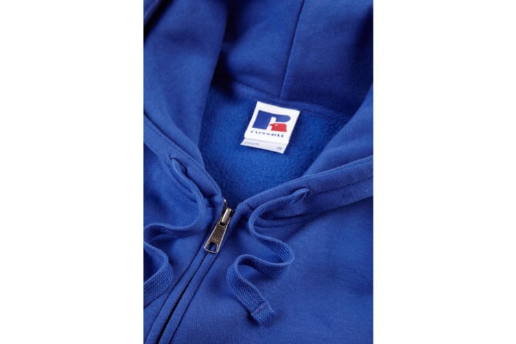 Russell Mens Authentic Full Zip Hooded Sweatshirt / Hoodie (Bright Royal) (M)