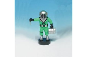 Air Diver Aquarium Air Ornament - Green