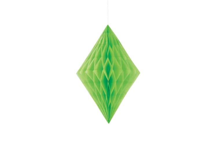 Unique Party 14 Inch Diamond Paper Decorations (Lime Green) (14 inch)