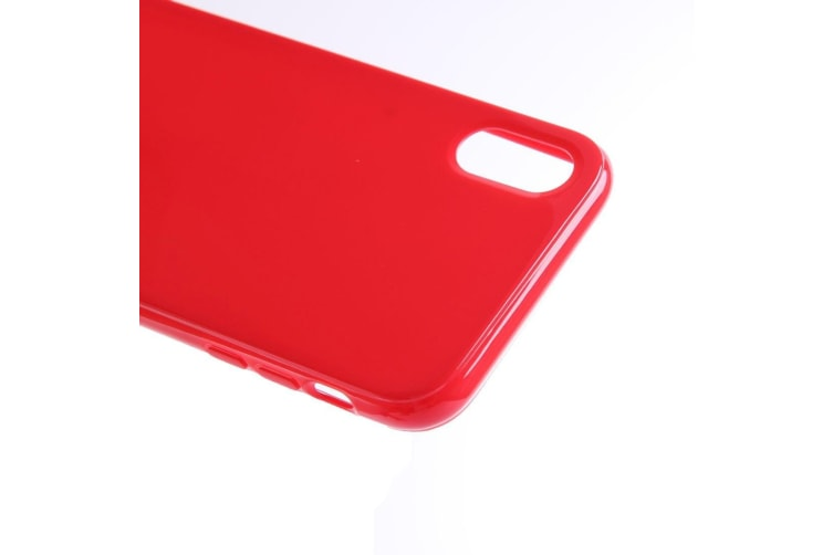 For iPhone XS X Case Elegant Slim High-Quality Durable Protective Cover Red