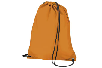 BagBase Budget Water Resistant Sports Gymsac Drawstring Bag (11L) (Orange)