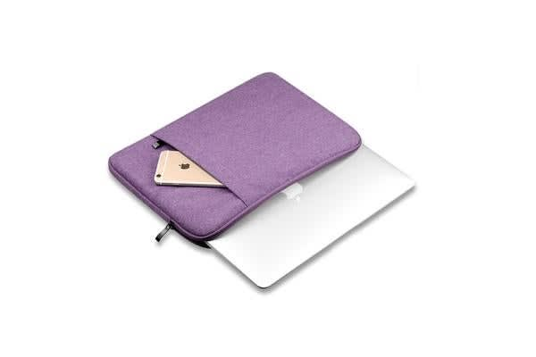 "Colour Pack Canvas Series 13.3"" Laptop Canvas Sleeve Case bag for Macbook  Air 11"" 13"" (Purple)"