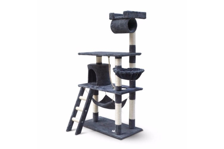 158cm Cat Tree Scratching Post Scratcher Pole Gym Toy House Furniture Grey