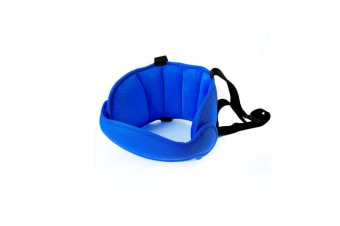Comfortable Safe Neck Relief Head Protector Belt Baby Sleep Aid Strap - Navy Blue Navy Blue