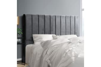 Artiss King Size Fabric Bed Headboard - Charcoal