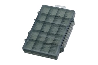 Foliage Green Daiichiseiko MC Case 195P - Fishing Tackle Tray with up to 20 Compartments
