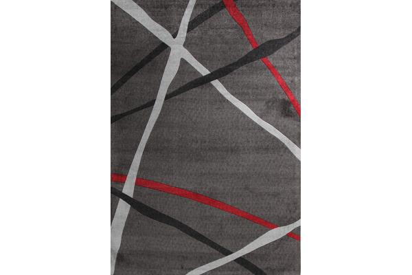 Abstract Lines Rug Charcoal 160x110cm