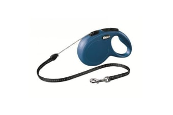 Flexi Classic Cord Retractable Dog Lead Blue - XS