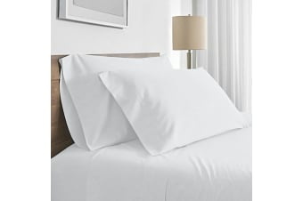 Valeria 1000TC Ultra Soft Super King Bed Sheet Set - White