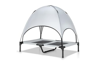 Heavy Duty Pet Trampoline Cot with Cot Canopy-Large