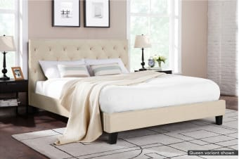 Shangri-La Bed Frame - Sorrento Collection (Beige Royal)